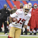 San Francisco 49ers wide receiver Michael Crabtree runs for a touchdown during the second half of an NFL football game against the New York Giants, Sunday, Nov. 16, 2014, in East Rutherford, N.J The Associated Press
