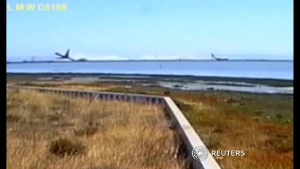 Asiana passenger jet crash seen on surveillance video