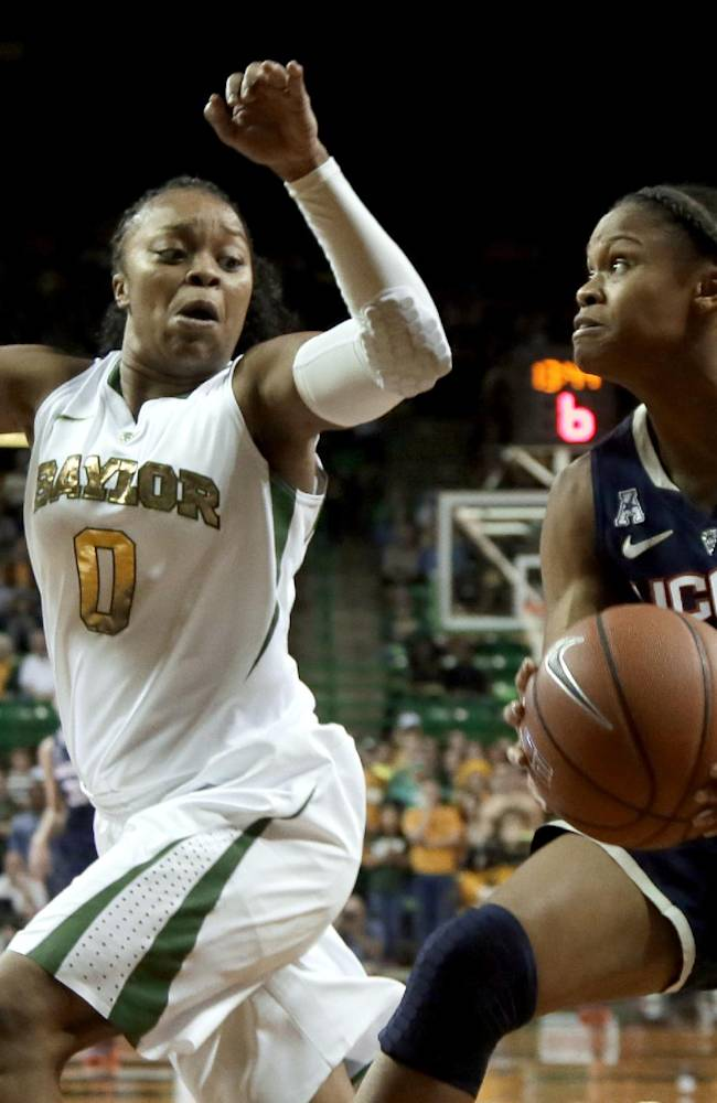 No. 1 UConn women end Baylor home streak, 66-55