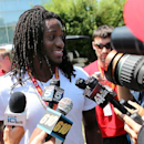 Kansas City Chiefs wide receiver Junior Hemingway speaks with members of the media before NFL football training camp on Wednesday, July 23, 2014, in St. Joeph, Mo The Associated Press