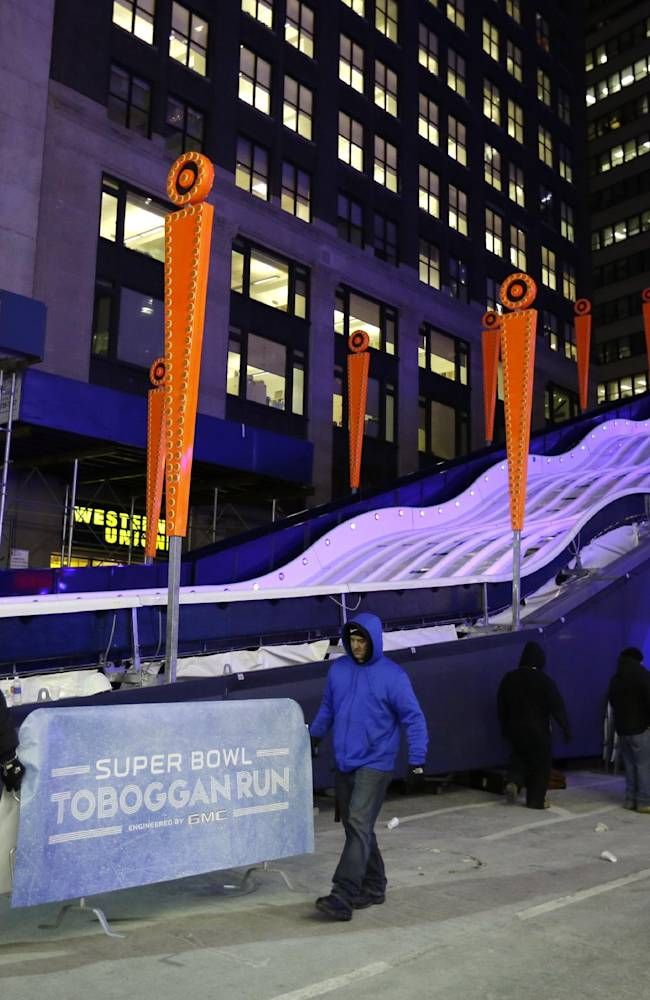 NYC turns Times Square into Super Bowl Boulevard