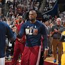 CLEVELAND, OH - APRIL 19: LeBron James #23 of the Cleveland Cavaliers before the game against the Boston Celtics in Game One of the Eastern Conference Quarterfinals during the NBA Playoffs on April 19, 2015 at Quicken Loans Arena in Cleveland, Ohio. (Photo by Brian Babineau/NBAE via Getty Images)