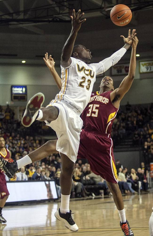 Weber scores 16 to lead No. 14 VCU over Winthrop