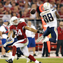 San Diego Chargers strong safety Marcus Gilchrist (38) breaks up a pass intended for Arizona Cardinals tight end Rob Housler (84) during the second half of an NFL football game, Monday, Sept. 8, 2014, in Glendale, Ariz The Associated Press