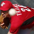Cincinnati Reds pitcher Jeff Francis throws during spring training baseball practice in Goodyear, Ariz., Tuesday, Feb. 18, 2014 The Associated Press