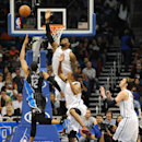 ORLANDO, FL - MARCH 25:  LeBron James #6 of the Miami Heat blocks the ball from Tobias Harris #12 of the Orlando Magic at Amway Center on March 25, 2013 in Orlando, Florida. (Photo by Gary Bogdon/Getty Images)