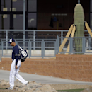 San Diego Padres pitcher Tyson Ross walks to the practice fields out of the teams training facility during spring training baseball practice, Friday, Feb. 21, 2014, in Peoria, Ariz The Associated Press