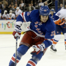 New York Rangers' Brian Boyle in the second period of the NHL hockey game at Madison Square Garden in New York, Thursday, Feb