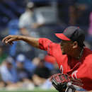 St. Louis Cardinals pitcher Carlos Martinez throws in the first inning of an exhibition spring training baseball game against the New York Mets, Wednesday, March 12, 2014, in Port St. Lucie, Fla The Associated Press