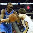 Durant returns, but Pelicans down Thunder 112-104 The Associated Press