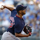 Boston Red Sox pitcher Eduardo Rodriguez throws in the first inning of a baseball game against the Kansas City Royals at Kauffman Stadium in Kansas City, Mo., Friday, June 19, 2015. (AP Photo/Colin E. Braley)