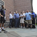 Baltimore Ravens quarterback Joe Flacco answers questions from reporters during a news conference Tuesday, Sept. 9, 2014, at the NFL football team's facility in Owings Mills, Md The Associated Press