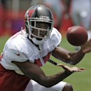 Tampa Bay Buccaneers wide receiver Tommy Streeter reaches for a reception during an NFL football training camp Monday, July 28, 2014, in Tampa, Fla The Associated Press