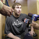 Utah Jazz's Gordon Hayward speaks to reporters on the day the Jazz cleaned out their lockers after a disappointing 25-57 season, Thursday, April 17, 2014, in Salt Lake City The Associated Press