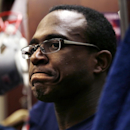 New England Patriots wide receiver Matthew Slater listens to a reporter's question in the team locker room prior to an NFL football practice in Foxborough, Mass., Wednesday, Dec. 17, 2014 The Associated Press