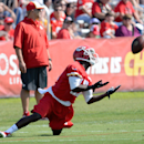 Kansas City Chiefs wide receiver Donnie Avery catches a pass during a NFL training camp practice on the Missouri Western State University campus, Thursday, July 24, 2014 in St. Joseph, Mo The Associated Press
