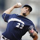 Milwaukee Brewers starting pitcher Matt Garza throws against against the Pittsburgh Pirates in the first inning of the baseball game Saturday, April 19, 2014, in Pittsburgh The Associated Press