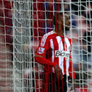 Sunderland's Jermain Defoe reacts after missing a chance to score against Fulham during their English FA Cup fourth round soccer match between Sunderland and Fulham at the Stadium of Light, Sunderland, England, Saturday, Jan. 24, 2015