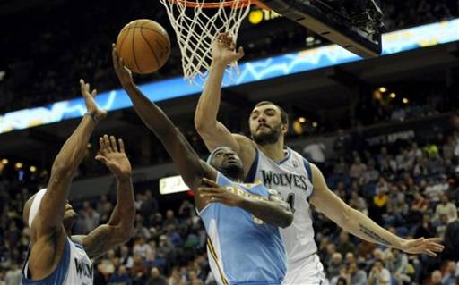 Nuggets Timberwolves Basketball