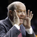 Vanderbilt head coach Kevin Stallings yells to his players in the first half of an NCAA college basketball game against Missouri Saturday, Feb. 21, 2015, in Nashville, Tenn. (AP Photo/Mark Humphrey)