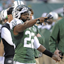 New York Jets' Ed Reed reacts during the second half of an NFL football game against the Miami Dolphins, Sunday, Dec. 1, 2013, in East Rutherford, N.J The Associated Press