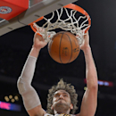 Los Angeles Lakers center Pau Gasol, of Spain, dunks the ball during the first half of an NBA basketball game against the Portland Trail Blazers, Sunday, Dec. 1, 2013, in Los Angeles The Associated Press