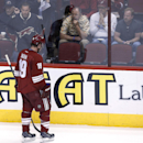 Phoenix Coyotes' Shane Doan (19) skates off the ice after an NHL hockey against the San Jose Sharks on Saturday, April 12, 2014, in Glendale, Ariz. The Sharks defeated the Coyotes 3-2 The Associated Press