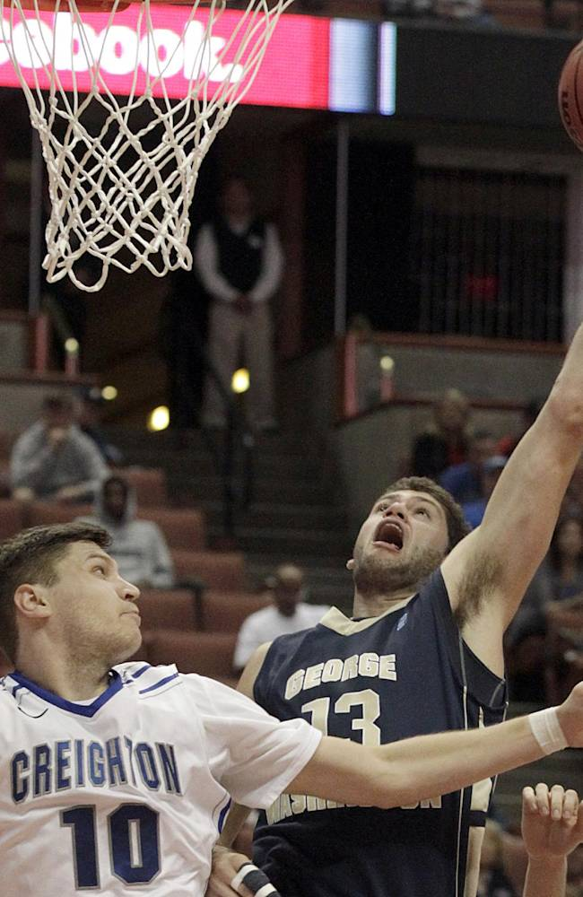 Larsen, Geo Washington top No. 20 Creighton 60-53