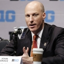 Illinois head coach John Groce speaks at Big Ten NCAA college basketball media day in Rosemont, Ill., Thursday, Oct. 25, 2012. (AP Photo/Nam Y. Huh)