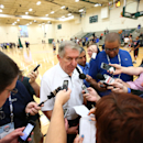 CHICAGO, IL - AUGUST 14: Managing Director Jerry Colangelo of the USA Basketball Men's National Team speaks to the media after practice at the Quest MultiSport Facility on August 13, 2014 in Chicago, Illinois. (Photo by Nathaniel S. Butler/NBAE via Getty Images)