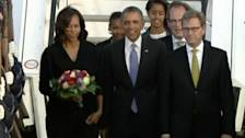 Obama arrives in Germany