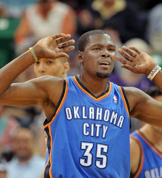 Durant scores 42 to lift Thunder to win over Jazz