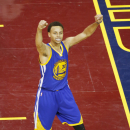 CLEVELAND, OH - JUNE 16: Stephen Curry #30 of the Golden State Warriors celebrates during the game against the Cleveland Cavaliers in Game Six of the 2015 NBA Finals at The Quicken Loans Arena on June 16, 2015 in Cleveland, Ohio. (Photo by Gregory Shamus/NBAE via Getty Images)
