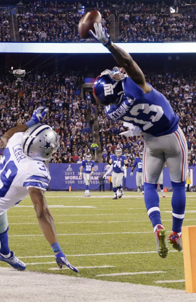 Beckham has become Giants' center of attention