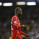 Liverpool's Mario Balotelli gestures during the Champions League group B soccer match between Liverpool and Real Madrid at Anfield Stadium, Liverpool, England, Wednesday Oct. 22, 2014