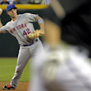 New York Mets' David Wright throws out Arizona Diamondbacks' Aaron Hill during the second inning of the MLB National League baseball game on Tuesday, April 15, 2014, in Phoenix The Associated Press