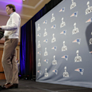 New England Patriots quarterback Tom Brady answers questions during a news conference Monday, Jan. 26, 2015, in Chandler, Ariz. The Patriots play the Seattle Seahawks in NFL football Super Bowl XLIX Sunday, Feb. 1, in Phoenix The Associated Press