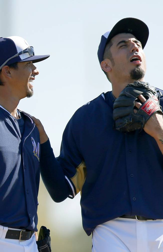 Garza, Lohse bring levity, leadership to Brewers