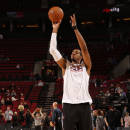 PORTLAND, OR - JANUARY 24: LaMarcus Aldridge #12 of the Portland Trail Blazers warms up before the game Washington WIzards on January 24, 2015 at the Moda Center Arena in Portland, Oregon. (Photo by Cameron Browne/NBAE via Getty Images)