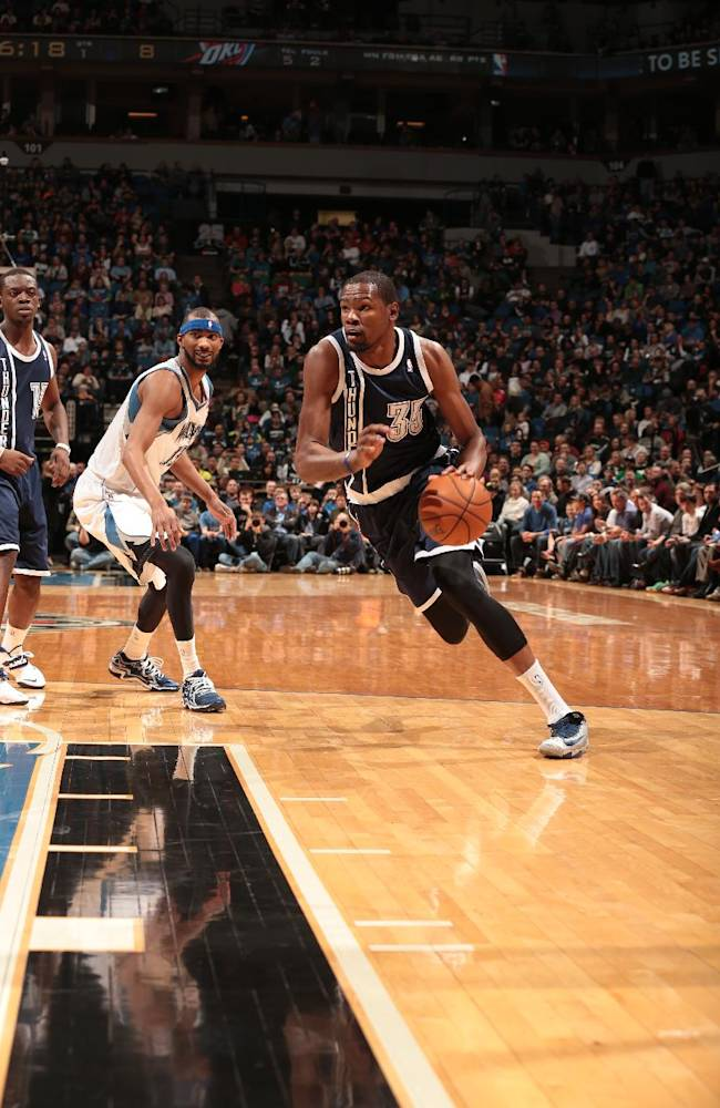 Durant carries Thunder to win over Timberwolves