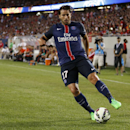Paris Saint-Germain's Maxwell plays against Manchester United during International Champions Cup play in Chicago Wednesday, July 29, 2015. (AJ Mast / AP Images for International Champions Cup)