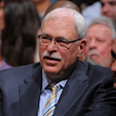 LOS ANGELES, CA - APRIL 2: Former NBA coach Phil Jackson looks on during a game between the Dallas Mavericks and the Los Angeles Lakers at Staples Center on April 2, 2013 in Los Angeles, California. (Photo by Andrew D. Bernstein/NBAE via Getty Images)