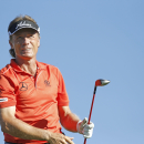 Bernhard Langer hits his drive at the first hole during the Pro-Am at the Charles Schwab Cup Championships Tour on Wednesday, Oct. 29, 2014, on the Cochise Course at Desert Mountain Golf Club in Scottsdale, Ariz. (AP Photo/The Arizona Republic, Rob Schumacher)