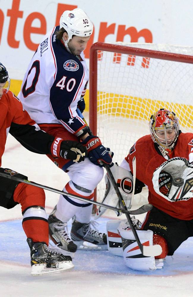 Umberger helps Blue Jackets beat Senators 4-1