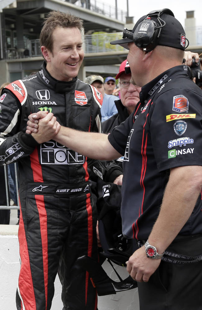Busch narrowly misses Indy 500 pole contention
