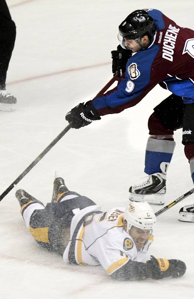 Wilson has 4 points, Predators beat Avalanche 6-4