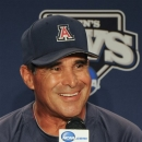 FILE - In this June 14, 2012, file phot, Arizona coach Andy Lopez smiles during the coaches' College World Series news conference at TD Ameritrade Park in Omaha, Neb. The Wildcats went undefeated in last year's postseason during their run to their fourth national championship, and first since 1986. (AP Photo/Eric Francis, File)