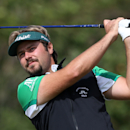 Victor Dubuisson of France plays a shot off the 8th tee during the final round of the British Open Golf championship at the Royal Liverpool golf club, Hoylake, England, Sunday July 20, 2014