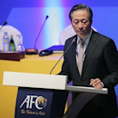 South Korean FIFA vice president Chung Mong-Joon talks during the 24th Asian Football Confederation (AFC) congress in Doha January 6, 2011.  REUTERS/Fadi Al-Assaad
