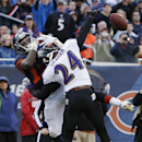 Baltimore Ravens cornerback Corey Graham (24) breaks up a pass intended for Chicago Bears wide receiver Alshon Jeffery (17) in the end zone during the first half of an NFL football game, Sunday, Nov. 17, 2013, in Chicago The Associated Press
